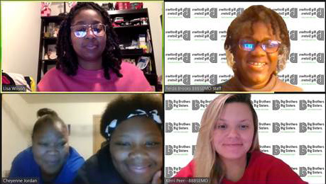 A screen capture of a Big Meeting happening virtually on Zoom